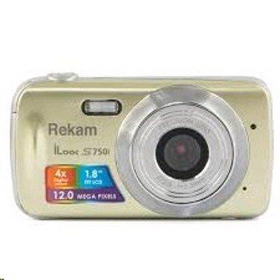 Цифровая фотокамера Rekam iLook S750i золотистый (1108005093) (1108005093) rekam ilook s955i black цифровая фотокамера
