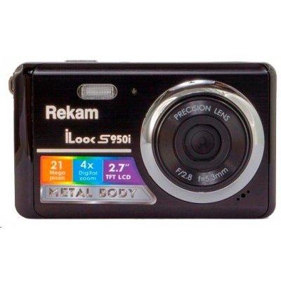 Цифровая фотокамера Rekam iLook S950i черный (1108005095) (1108005095)Цифровые фотокамеры Rekam<br>21Mpix 2.7 SDHC CMOS/Li-Ion<br>