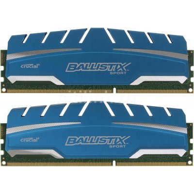 Модуль оперативной памяти ПК Crucial BLS2C4G3D18ADS3CEU 8Gb DDR3 (BLS2C4G3D18ADS3CEU)Модули оперативной памяти ПК Crucial<br>Память DDR3 8Gb (pc-14900) 1866MHz Crucial 2x4Gb Ballistix Sport XT CL10 (BLS2C4G3D18ADS3CEU)<br>