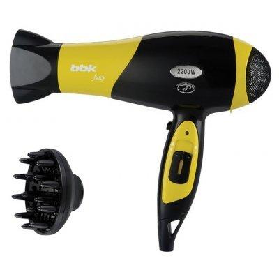 Фен BBK BHD3225i черный-желтый (BHD3225i черный-желтый) фен bbk bhd3201i