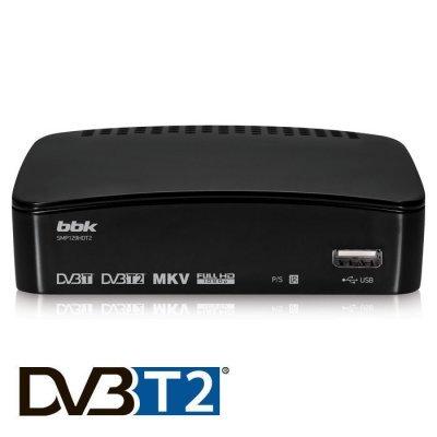 ТВ-тюнер внешний BBK SMP129HDT2 черный (SMP129HDT2 черный) tv тюнер в пензе