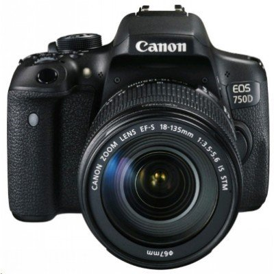 Цифровая фотокамера Canon EOS 750D Kit EF-S 18-55mm f/3.5-5.6 IS STM (0592C005) фотоаппарат canon eos 1200d kit 18 55mm dc iii