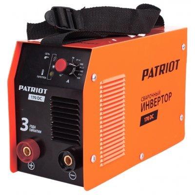 Сварочный аппарат Patriot 170DC MMA (605302516) (605302516)Сварочные аппараты Patriot<br>сварочный инвертор типы сварки: ручная дуговая (MMA) макс. сварочный ток: 160 А (MMA) мощность: 4.40 кВт диаметр электрода: 2-4 мм антиприлипание горячий старт<br>
