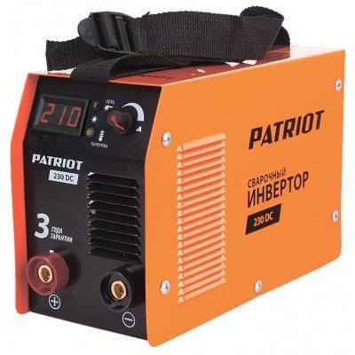 Сварочный аппарат Patriot 230DC MMA (605302520) (605302520)  сварочный инвертор patriot 230 pfc