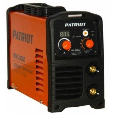 Сварочный аппарат Patriot WM 160AT (605302616) (605302616)Сварочные аппараты Patriot<br>Методы сварки: ММА DC; Тип преобразователя: инвертор; Сварочный ток: 10-160A; Потребляемая мощность: 4.4 кВт; Максимальное напряжение холостого хода: 80 В; Продолжительность включения: 60%/160A; Форсаж дуги: автоматический; Диаметр электродов, макс: 4 мм<br>