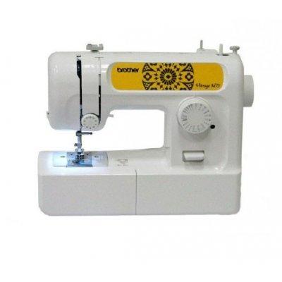 Швейная машина Brother Vitrage M73 белый (M73)Швейные машины Brother<br>Максимальное количество швейных операций: 17, Длина стежка: 4, Ширина стежка, макс.: 5, Бренд: Brother<br>