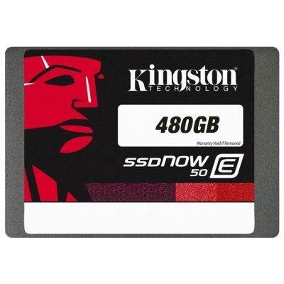 Накопитель SSD Kingston E50 Enterprise Disk 480GB SATA 3 2.5 (Retail) (SE50S37/480G) (SE50S37/480G)Накопители SSD Kingston<br>SSD жесткий диск для сервера линейка SSDNow E50 объем 480 Гб форм-фактор 2.5 интерфейс SATA 6Gb/s<br>