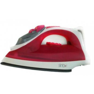 Утюг Sinbo SSI 2870 красный (SSI 2870)Утюги Sinbo<br>пароувлажнение; мощность: 2200Вт; паровой удар: 96г; емкость для воды: 280мл; подошва: керамическая; самоочистка от накипи;<br>