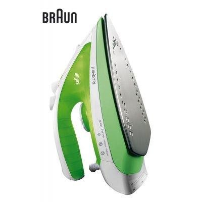 Утюг Braun TS 330 (TS 330)Утюги Braun<br>пароувлажнение; мощность: 2000Вт; паровой удар: 110г; емкость для воды: 280мл; подошва: керамическая; самоочистка от накипи; стержень от накипи; цвет: зеленый<br>