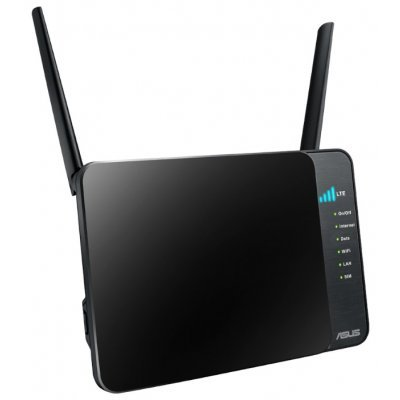 Wi-Fi роутер ASUS 4G-N12 (4G-N12)Wi-Fi роутеры ASUS<br>ASUS WiFi 4G LTE Router 4G-N12 (WLAN 300Mbps, 802.11bgn+1xSIM Card+4xLAN RG45 10/100+1xWAN) 2x ext Antenna<br>