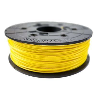 Пластик PLA XYZ для da Vinci, Clear желтый 1,75 мм/600гр (RFPLBXEU03B)Пластик PLA XYZ<br>Пластик PLA (сменная катушка для картриджа) для da Vinci, Clear Yellow (желтый), 1,75 мм/600гр<br>