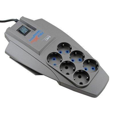 Сетевой фильтр Pilot X-Pro 3м (6 розеток) серый (PILOT-X-PRO 3M) сетевой фильтр zis pilot pro 6 розеток 7 м серый черный