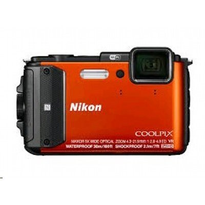 Цифровая фотокамера Nikon CoolPix AW130 оранжевый (CoolPix AW130 оранжевый)Цифровые фотокамеры Nikon<br>Фотоаппарат Nikon CoolPix AW130 оранжевый 16Mpix Zoom5x 3 1080p 473Mb SDXC CMOS IS opt 1minF HDMI/KPr/DPr/WPr/WiFi/GPS/EN-EL12<br>