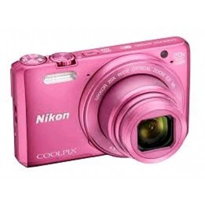 Цифровая фотокамера Nikon CoolPix S7000 розовый (VNA803E1)Цифровые фотокамеры Nikon<br>16Mpix Zoom20x 3 1080p 20Mb SDXC CMOS IS opt 2minF HDMI/WiFi/EN-EL19 (VNA803E1)<br>