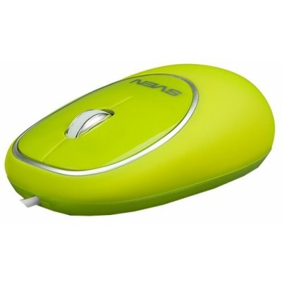 Мышь SVEN RX-555 Antistress Silent зеленая (SV-03200555UGS) клавиатура проводная sven sv 0310