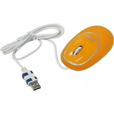 Мышь SVEN RX-555 Antistress Silent оранжевая (SV-03200555UOS) клавиатура проводная sven sv 0310