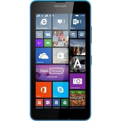Смартфон Microsoft Lumia 640 DS Cyan (A00024644)Смартфоны Microsoft<br>GSM, LTE, , MS Windows Phone 8.1,  145 ,  72.2x141.3x8.8 ,  5, 720x1280, FM-, Bluetooth, NFC, Wi-Fi, GPS, ,  8 ,  8  (A00024644)<br>