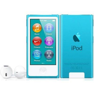 Цифровой плеер Apple iPod nano 7 16GB - Blue (MKN02RU/A) (MKN02RU/A)Цифровые плееры Apple<br>плеер со встроенной памятью 16 Гб<br>    сенсорный экран 2.50<br>    просмотр видео<br>    радиоприемник<br>    время работы 30 ч<br>    вес 31 г<br>    беспроводная связь Bluetooth<br>    металлический корпус<br>