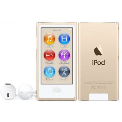 Цифровой плеер Apple iPod nano 7 16Gb - Gold (MKMX2RU/A) (MKMX2RU/A) китайский ipod nano 5g