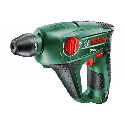 Перфоратор Bosch Uneo 10.8 LI-2 (0603984024) (0603984024)Перфораторы Bosch<br>Тип двигателя: Щеточный ; Тип хвостовика: sds-quick ; Количество режимов: 3 ; Сила удара: 0.5 Дж; Тип аккумулятора: Li-lon ; Напряжение аккумулятора: 10.8 В; Емкость аккумулятора: 1.5 А*ч; Время заряда: 60 мин; Наличие быстросменного патрона: нет ; Max диаметр сверления буром (бетон): 10 мм; Мах диа ...<br>