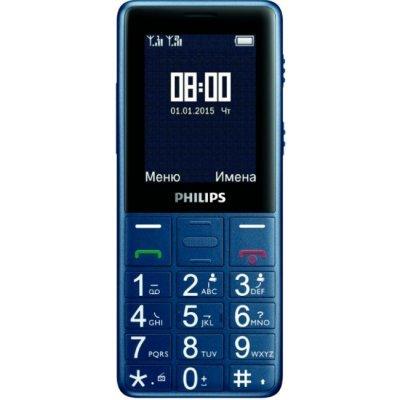 Мобильный телефон Philips Xenium E311 темно-синий (8712581733490)Мобильные телефоны Philips<br>Мобильный телефон Philips Xenium E311 темно-синий моноблок 2Sim 2.4 240x320 0.3Mpix BT GSM900/1800 GSM1900 MP3 FM microSDHC max32Gb<br>