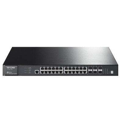 Коммутатор TP-link T2700G-28TQ (T2700G-28TQ)Коммутаторы TP-link<br>TP-Link T2700G-28TQ JetStream&amp;#8482; 28-port Pure-Gigabit L2+ Managed Switch, 24 10/100/1000Mbps RJ45 ports including 4 combo Gigabit SFP  slots, 2 integrated 10G SFP+ Slots, 2 optional 10G SFP+ Slots, basic L3 routing protocols including Static<br>