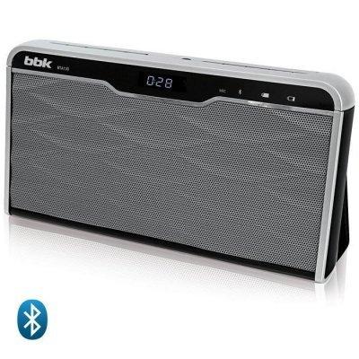 Портативная акустика BBK BTA130 черный/металлик (BTA130 черный/металлик) bbk bx318u черный