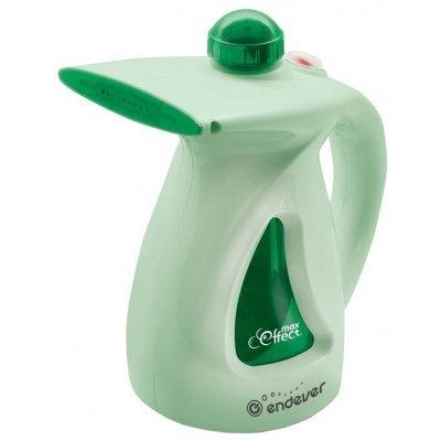 Пароочиститель Endever Q-416 зеленый (Q-416 зеленый)Пароочистители Endever<br>ручной отпариватель<br>    мощность 750 Вт<br>    время нагрева 4 мин<br>    максимальная подача пара 20 г/мин<br>    пластиковый корпус<br>    температура пара 98 °C<br>    объем бака 0.5 л<br>