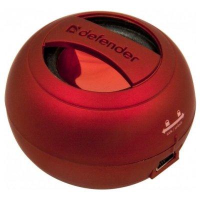 Портативная акустика Defender Soundway красный (Soundway красный)Портативная акустика Defender<br>портативная акустика моно<br>    мощность 2 Вт<br>    питание от батарей, от USB<br>    линейный вход<br>