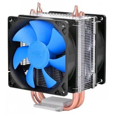 Кулер для процессора DeepCool ICE BLADE 200M (ICEBLADE200M)Кулеры для процессоров DeepCool<br>Кулер DeepCool ICE BLADE 200M (Soc-AMD/1150/1155/1156/2011/ 4pin 18-30dB Al+Cu 130W 343g clamp Dual-<br>