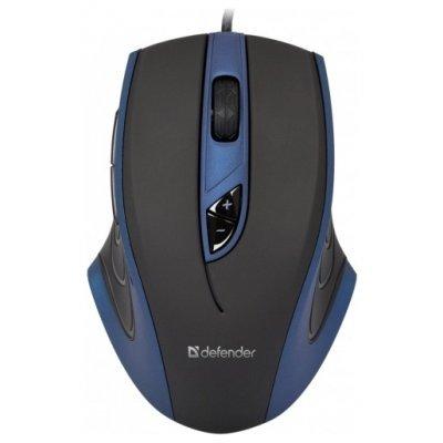 Мышь Defender Warhead GMX-1800 Black-Blue USB (52724)Мыши Defender<br>проводная мышь интерфейс USB для настольного компьютера лазерная, 7 клавиш разрешение сенсора мыши 6000 dpi<br>