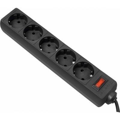 Сетевой фильтр Defender ES 5.0 m Black 5 розеток (99486)