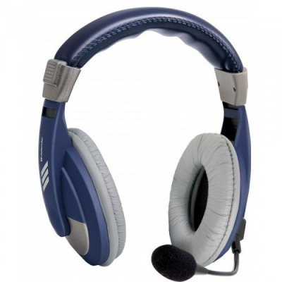 Наушники Defender HN-750 синий (63748)Наушники Defender<br>Наушники Defender Gryphon HN-750 BLUE Регулят. громк., 2м кабель<br>