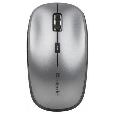 Мышь Defender Ayashi MS-325 Grey USB (52325)Мыши Defender<br>беспроводная мышь интерфейс USB для ноутбука светодиодная, 6 клавиш разрешение сенсора мыши 2000 dpi<br>