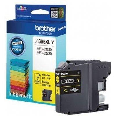 Картридж для струйных аппаратов Brother LC665XLY желтый (LC665XLY)Картриджи для струйных аппаратов Brother<br>Картридж струйный Brother LC665XLY<br>