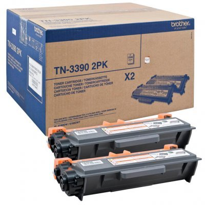 Тонер-картридж для лазерных аппаратов Brother TN3390TWIN (TN3390TWIN)Тонер-картриджи для лазерных аппаратов Brother<br>Тонер-картридж Brother TN3390TWIN для HL-6180DW/DCP-8250DN/MFC-8950DW (12000 стр) 2 штуки<br>