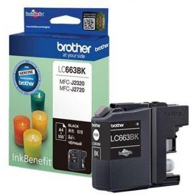 Картридж для струйных аппаратов Brother LC663BK (LC663BK) картридж brother lc1100hyy