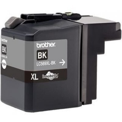 Картридж для струйных аппаратов Brother LC569XLBK (LC569XLBK) картридж для струйных аппаратов brother lc3617y желтый для mfc j3530dw j3930dw 550стр lc3617y