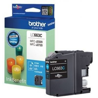 Картридж для струйных аппаратов Brother LC663C (LC663C) картридж brother lc1100hyy