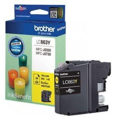Картридж для струйных аппаратов Brother LC663Y (LC663Y) картридж для струйных аппаратов brother lc663y lc663y