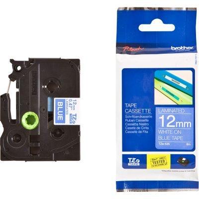 Пленка к принтеру для этикеток Brother TZE535 12 мм белый на синем (TZE535)