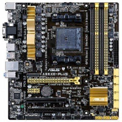 Материнская плата ПК ASUS A88XM-PLUS (90MB0H50-M0EAY0)Материнские платы ПК ASUS<br>Мат. плата ASUS A88XM-PLUS &amp;lt;SFM2+, AMD A88, 4*DDR3, 2*PCI-E16x, SVGA, DVI, HDMI, SATA, USB 3.0, GB L<br>