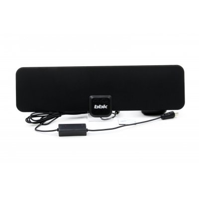 Антенна телевизионная BBK DA20 (DA20) комнатная всеволновая антенна ritmix rta 170 dvb t2 ultra slim
