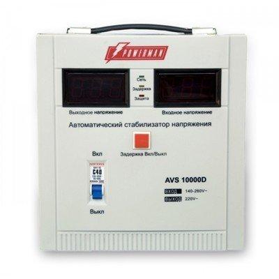 Стабилизатор напряжения Powerman AVS-10000D (AVS-10000D)Стабилизаторы напряжения Powerman<br>(10000,50, 98%,  ./. .)<br>