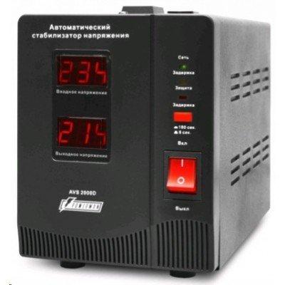 Стабилизатор напряжения Powerman AVS-2000DBLACK (AVS-2000DBLACK)Стабилизаторы напряжения Powerman<br>Powerman AVS-D Voltage Regulator 2000VA, Digital Indication, 2x Schuko Outlets, 1m Power Cord, 230V, 1 year warranty, Black<br>
