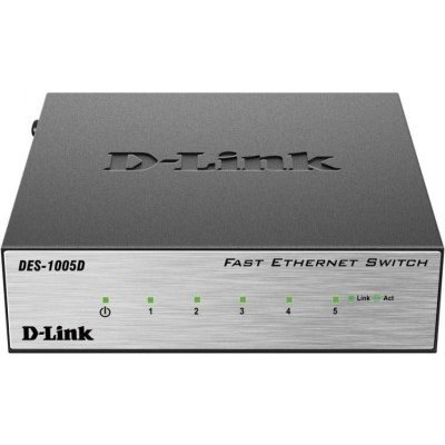 Коммутатор D-Link DES-1005D/O2B (DES-1005D/O2B)Коммутаторы D-Link<br>5-port UTP 10/100Mbps Auto-sensing, Stand-alone, Unmanaged,<br>