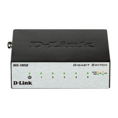 Коммутатор D-Link DGS-1005D/H2B (DGS-1005D/H2B)Коммутаторы D-Link<br>5-port UTP 10/100/1000Mbps Auto-sensing, Stand-alone, Unmanaged<br>