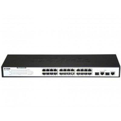 Коммутатор D-Link DES-1026G/E1A (DES-1026G/E1A)Коммутаторы D-Link<br>24-port UTP 10/100Mbps  with 2-ports 10/100/1000Base-T Ethernet ports<br>