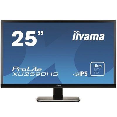 Монитор IIYAMA 25 XU2590HS-B1 (XU2590HS-B1)Мониторы IIYAMA<br>Монитор LCD PL2590 25   16:9 1920х1080 IPS, nonGLARE, 250cd/m2, H178°/V178°, 5М:1, 5ms, VGA, DVI, HDMI, Tilt, Speakers, 3Y, Black<br>