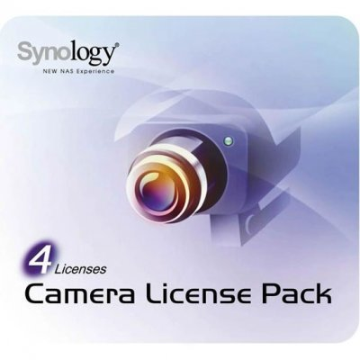 Лицензия ПО Synology LICENSE PACK 4 (LICENSEPACK4)Лицензии ПО Synology<br>Лицензия Synology для 4-х IP-камер (Synology Camera License Pack 4)<br>